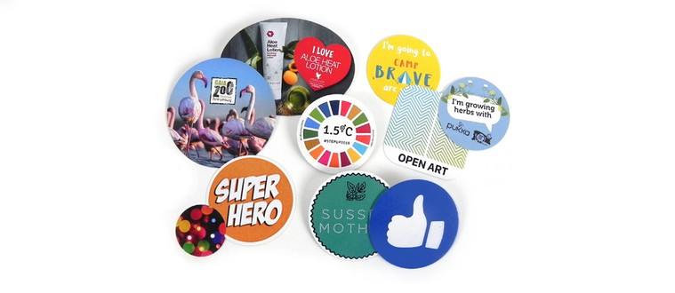 Wooden button badges