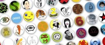 Buttons mit Designs, Prickie Vorschaubild