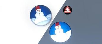 Chapa reflectantes con muñeco de nieve Vorschaubild