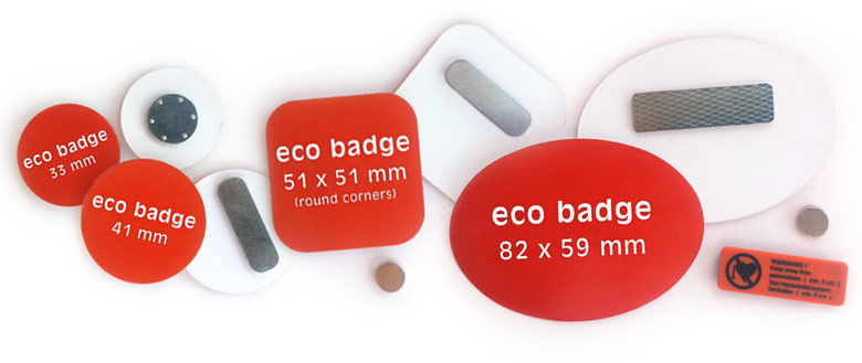 eco buttons, magnet, back
