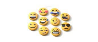 """Emoji-Set """"Happy"""" mit Sicherheitsnadel Vorschaubild"""