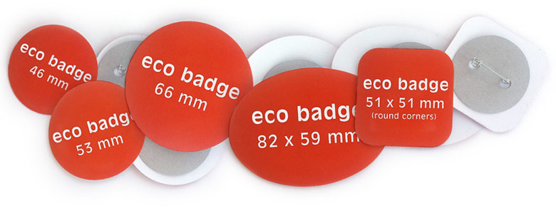 eco badges all sizes pin