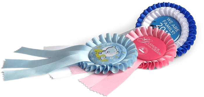Your buttons on rosettes
