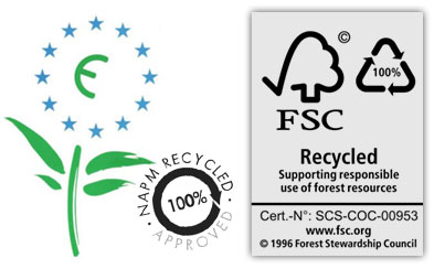 material certificates for the eco badges