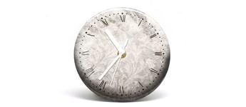 """Button-Uhr Motiv """"Vintage"""", Zeigerfarbe weiß Vorschaubild"""