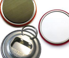 Befestigung, Rückseite Kühlschrankmagnet, Flächenmagnet, Flaschenöffner, Spiegelbutton
