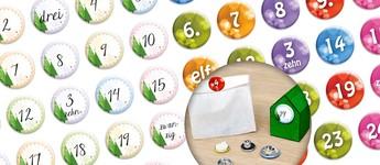 Adventskalender-Buttons Vorschaubild