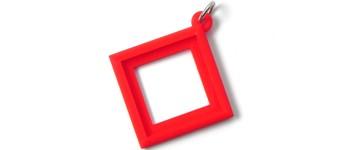 25x25mm-45°-Wechsel-Anhänger, rot Vorschaubild