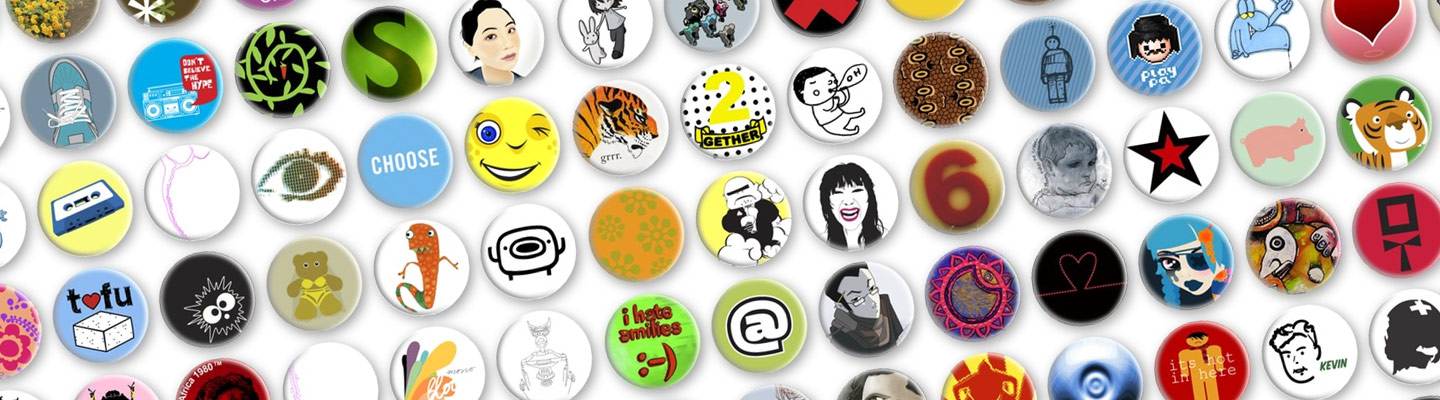 Prickie-Buttons, Designer-Buttons