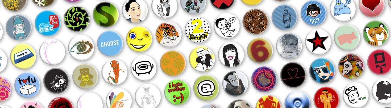 Prickie-Buttons, Designer-Buttons, fertige Motive