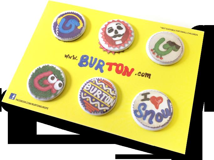Button on card, postcard