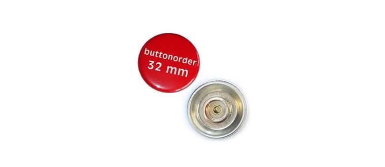 Button mit Druckknopf