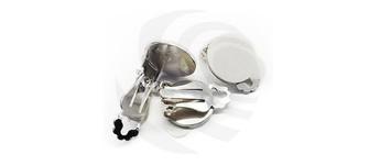 Ear clip, silvered, with glue pad, single Vorschaubild