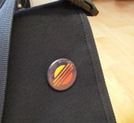 Button auf Tasche