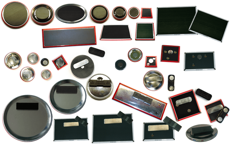 Magnete, Magnetbuttons, Kleidungsmagnete, Rückseiten