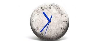 """Button-Uhr Motiv """"Vintage"""", Zeigerfarbe blau Vorschaubild"""