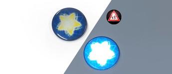 Reflektorbutton mit Stern, blau Vorschaubild