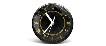 """Button-Uhr Motiv """"Gold"""", Zeigerfarbe weiss Vorschaubild"""