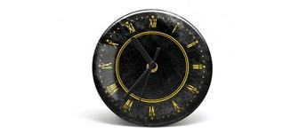 """Button-Uhr Motiv """"Gold"""", Zeigerfarbe schwarz Vorschaubild"""