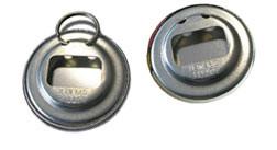 Flaschenöffnerbutton, Flaschenöffner, Rückseiten, Button