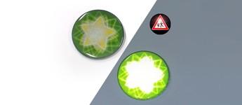 Chapa reflectantes  con estrella verde Vorschaubild