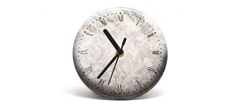 """Button-Uhr Motiv """"Vintage"""", Zeigerfarbe schwarz Vorschaubild"""