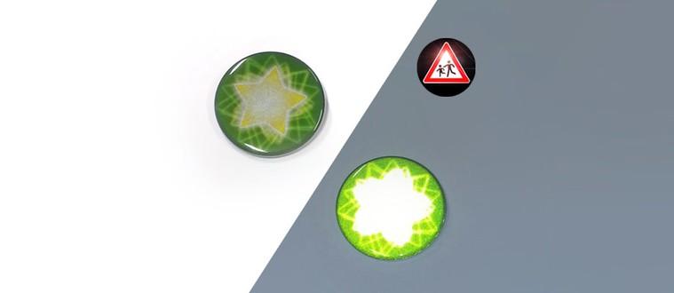 Chapa reflectantes  con estrella verde