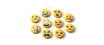 """Emoji-Set """"Miesepeter"""" mit Sicherheitsnadel Vorschaubild"""